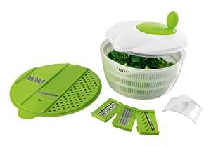 TV unser Original 05128 maxxcuisine Salat-Set Deluxe mit 4 Reibeinsätzen und...