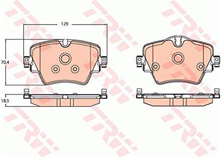 TRW GDB2098 4x Bremsbel/äge vorne