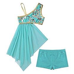 Girls Lyrical Dancewear In Lake Blue