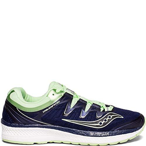 Saucony Women's Triumph ISO 4 Running Shoe, Navy/Mint, 12 Medium US