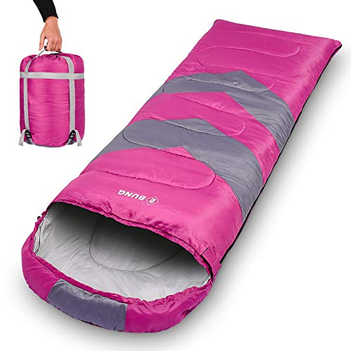 Ebung Sleeping Bag for Cold Weather – Envelope Portable Ideal for Winter, Summer, Spring, Fall – Outdoor Camping, Hiking, Traveling - Adults, Kids, Boys, Girls - Lightweight, Waterproof, Washable -