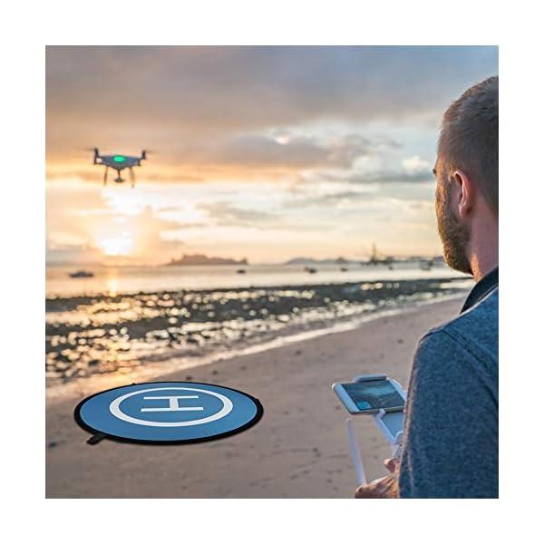 CHUER Drone Landing Pad, Universal Waterproof (D 75cm/30) Landing Pad Pieghevole Portatile per Elicotteri RC Drone, Droni PVB, DJI Mavic PRO Phantom 2/3/4 PRO, Antel Robotic 6 spesavip