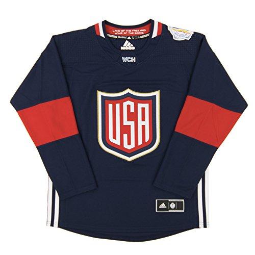 Team USA 2016 World Cup of Hockey Adidas Men's Premier Blue Jersey