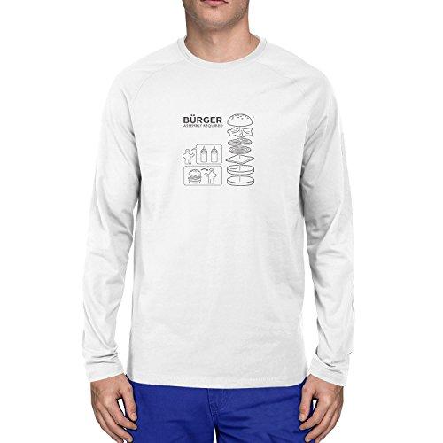 Planet Nerd - Bürger Assembly required - Herren Langarm T-Shirt, Größe XXL, weiß