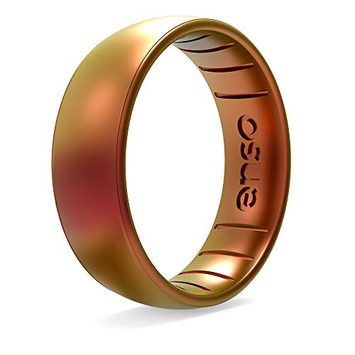 Enso Rings Classic Legend Silicone Ring - A Silicone Ring Made in The USA - an Ultra Comfortable, Breathable, and Safe Silicone Ring - Men's and Women's Silicone Wedding Ring (Poseidon, 8)
