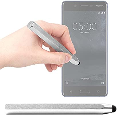 DURAGADGET Lápiz Stylus Gris para Smartphone Nokia 8, Nokia 5 ...