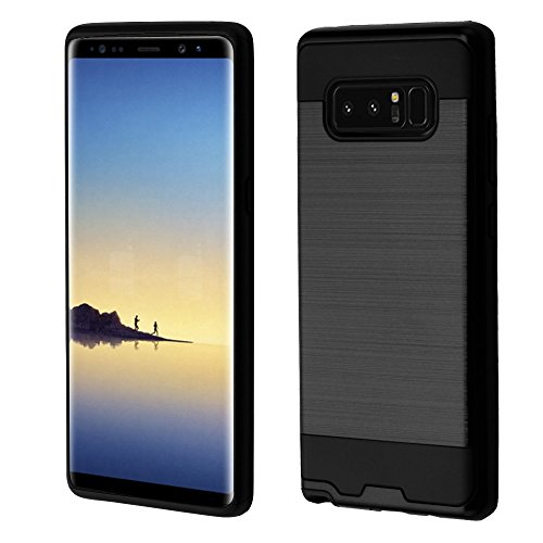 Samsung Galaxy Note 8 Case, Kaleidio [Brushed Metal Texture] Slim Fit Hybrid Armor [Shockproof] Protective TPU Lightweight 2-Piece Cover [Includes a Overbrawn Prying Tool]