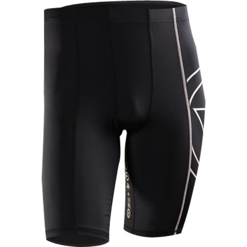 Virus Au5 Energy Bio Ceramic Compression Tech Shorts Men's Undergarment Off-Road Motorcycle Body Armor - Black / Medium