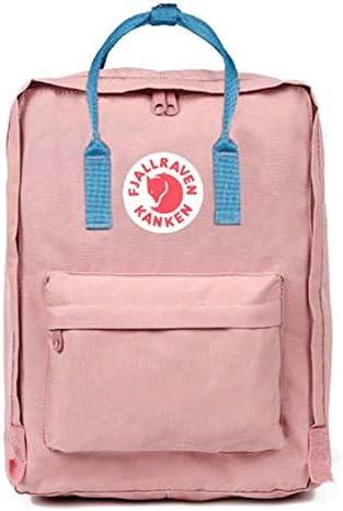 Mochila Top Sell Swedish Fox Classic Fashion Style Fjallraven – Kanken High School lona Sports 16 L – Rosa claro