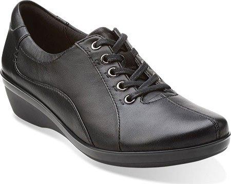Clarks Women's Everlay Elma Oxford, Black, 10 M (Clarks Womens Shoes 10)