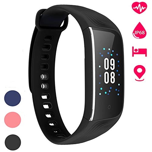 BuTure Fitness Tracker Watch, IP68 Waterproof Color Screen Activity Tracker Smart Watch Heart Rate Monitor with GPS Step Counter Calorie Counter Pedometer Watch