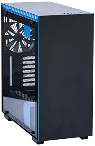GABINETE H700I MATTE BLACK/BLUE - CONTROLE RGB - PAINEL DE VIDRO TEMPERADO - GERENCIAMENTO DE CABOS - CA-H700W-BL - NZXT