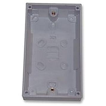 Doppel-Unterputzdose Gerätedose 32 mm Tiefe Elektrische zurück ...