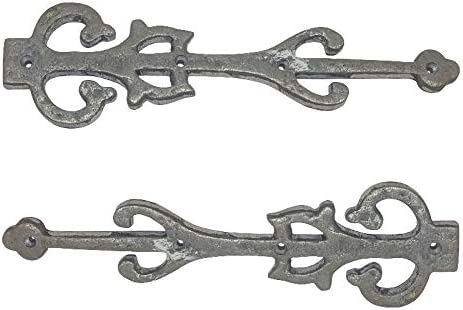 Black Powder Coated Adonai Hardware 277mm x 77mm Black Antique Iron False Hinge Supplied as Two Pieces per Pack