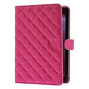 CeeMart Solid Color Soft Grids Pattern Case for iPad