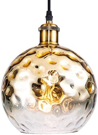 Modern Brass Globe Pendant Light