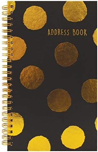 Telefonbuch/Adressbuch, Spiralbindung, A-Z Goldene Punkte