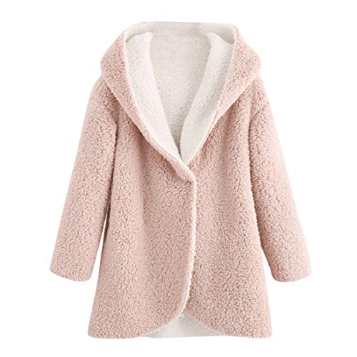 Duseedik Women Winter Cardigan, Women's Winter Curved Hem Overcoat Longline Faux Fur Coat Sherpa Fleece Hoodie Down Jacket for $<!--$2.59-->