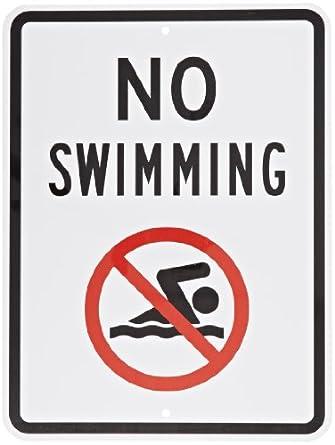 amazoncom smartsign aluminum sign legend quotno swimming