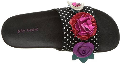 Sandalo Slide Betsey Johnson Donna Nero / Bianco A Pois