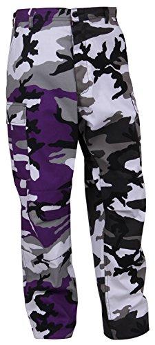 Rothco Two-Tone Camo BDU Pants, Ultra Violet Purple/City Camo, 2XL