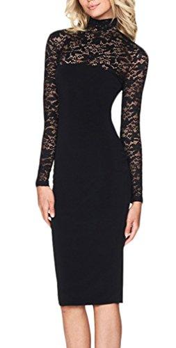 wholesale dealer da98b e51a5 Dell'anca Alto Donna Vestiti Tubino Vestito Manica Pacchetto ...