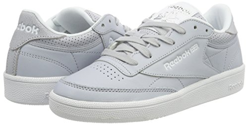 Grey Femme Club De Gris noir Grey Gymnastique cloud Fbt 85 Chaussures Reebok C Skull Metallic silver white FqfaU