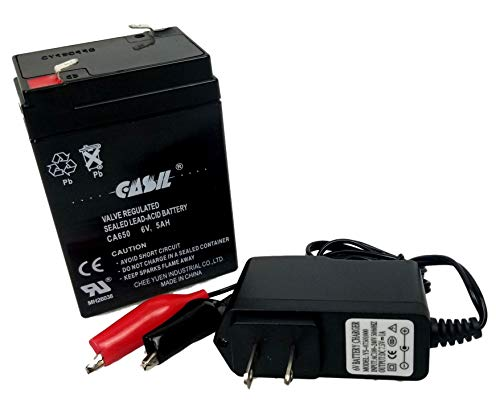 6v 5ah with Charger Battery for Impact Instrumentation 305 Suction -