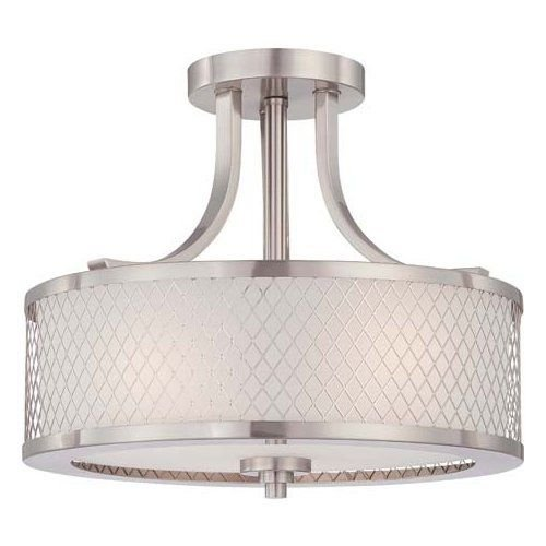 Nuvo Lighting 60/4692 Brushed Nickel Fusion 3 Light Semi-Flush Indoor Ceiling -by# buildinc - Brushed Nickel Fusion