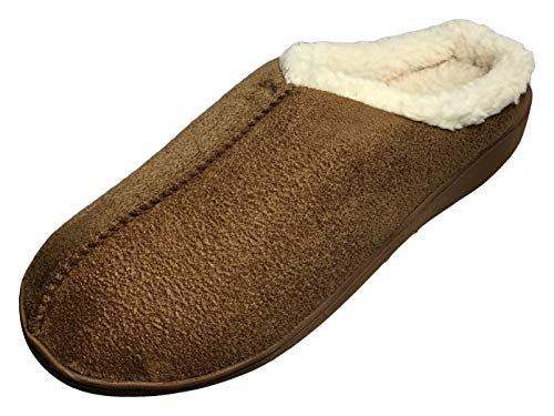 Unisex Memory Foam Slippers with Gentle Support and Temperature Sensitivity (MED 8-9 M / 9-10 W, Brown Camel)