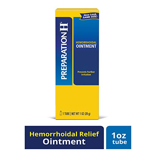 Preparation H Hemorrhoid Symptom Treatment Ointment, Itching, Burning & Discomfort Relief, Tube (1.0 oz)