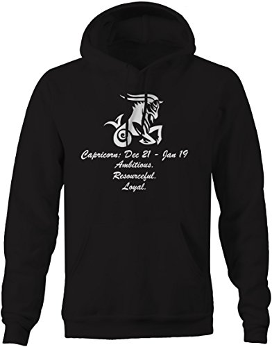 Capricorn Zodiac Horoscope Donate Astrology Traits & Dates Mens Sweatshirt -Medium