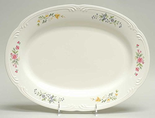 "PFALTZGRAFF Meadow Lane 14"" Oval Serving Platter ~USA~Stoneware~Discontinued 2007"