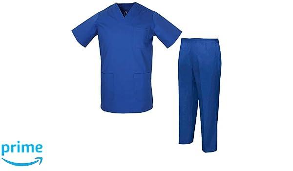 Misemiya ® Uniformes Casaca Y Pantalón - Uniformes Sanitarios Unisex Uniformes Médicos Enfermera Ddentistas Ref.8178: Amazon.es: Ropa y accesorios