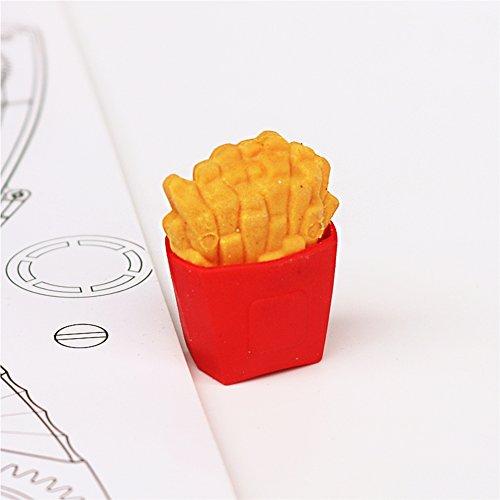 LoveInUSA Junk Food Theme Erasers Simulated Fast Food Rubber Set of 5,Cola Random Color by LoveInUSA (Image #3)