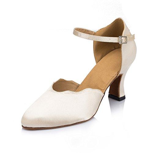 misu - Zapatillas de danza para mujer Negro negro Skin Color