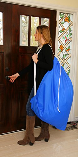 Large Laundry Bag with Adjustable Shoulder Strap, Commercial Grade 100% Nylon (30 X 40 Inches) (1)