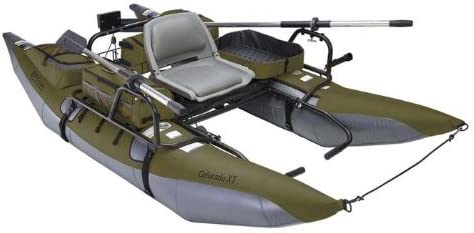 Classic Accessories Colorado XT Inflatable Pontoon Boat With Transport Wheel Motor Mount