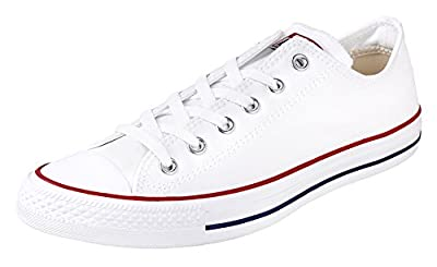 Converse Unisex Chuck Taylor All Star Ox Low Top Classic Sneakers Optical White 8 M US Women / 6 M US Men