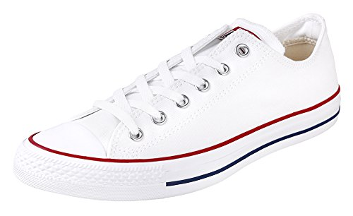Converse Unisex Chuck Taylor All Star Oxfords Optical White 9.5 D(M) US (White Converse All Shoes)