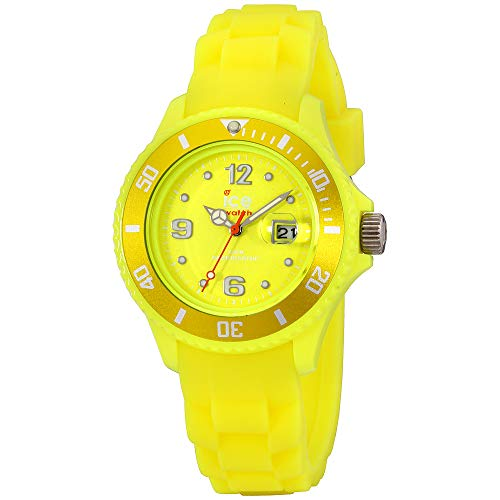 (Ice-Watch Flashy Yellow Dial Silicone Strap Unisex Watch SS.NYW.S.S.12 )