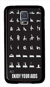 Enjoy Your Aids Funny Custom Samsung Galaxy S5 Case Cover - Polycarbonate - Black