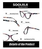 SOOLALA Ladies 52mm Lens Fashion Designer Cat Eye