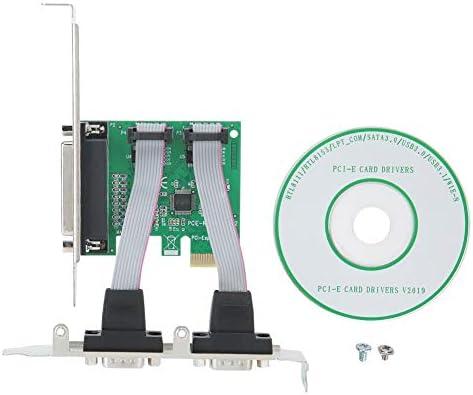 ASHATA Tarjeta Vertical de Tarjeta de expansión PCI-E, PCI-E a 2 Puerto Serie 1 Puerto Paralelo Adaptador de Tarjeta de expansión Adaptador de Tarjeta Vertical para Todas Las interfaces PCI-E: Amazon.es: Electrónica