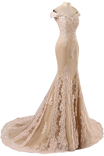 CoutureBridal - Vestido - Estuche - para mujer amarillo 38