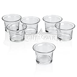 Clear Glass Lip Votive Candle Holders Set of 12