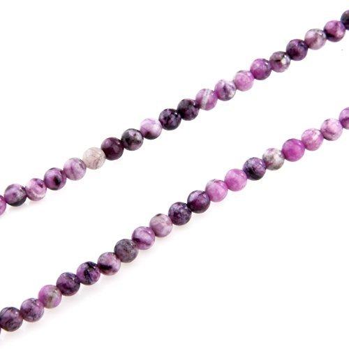 TOOGOO(R) Fil Perles en Sugilite Pierre Minerale Rond 6mm Violet