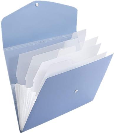 YuoungYuan Clasificador Documentos Carpeta Clasificadora Caja de Archivo Organizador Archivos y Carpetas a4 La expansión de Archivo Almacenamiento de Archivos Blue,5pocket: Amazon.es: Hogar