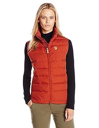 555e39f1 Fjällräven Övik Lite Women's Down Vest orange Size:XL: Amazon.co.uk ...