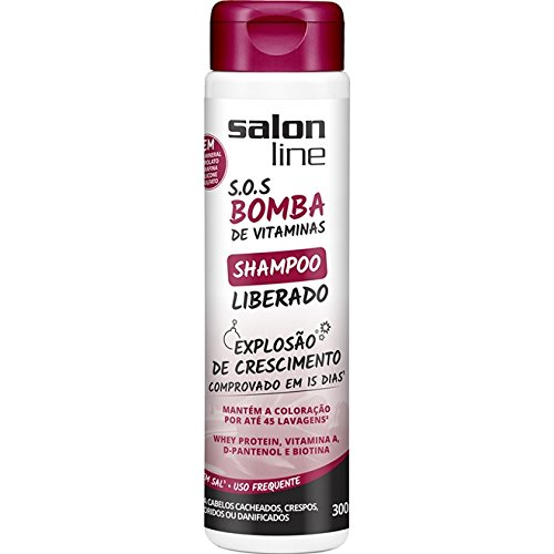 Amazon.com: Linha Tratamento (SOS Bomba de Vitaminas) Salon Line - Shampoo Liberado Explosao De Crescimento 300 Ml - (Salon Line Vitamin Bomb SOS Collection ...